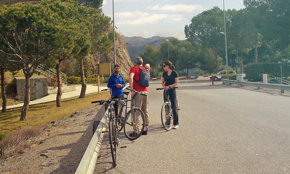 Fietsroutes in Malaga richting Norden